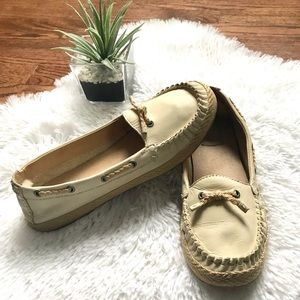 UGG Tylin Ivory leather loafers